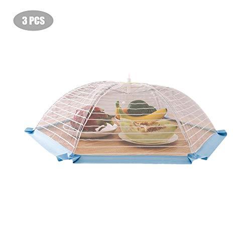 Copertura alimentare pieghevole, copertura alimentare tende, coprivivande in rete, confezione da 3 - protezione in rete a maglia stretta per proteggere il cibo, ideali sia per l'interno che per l'este