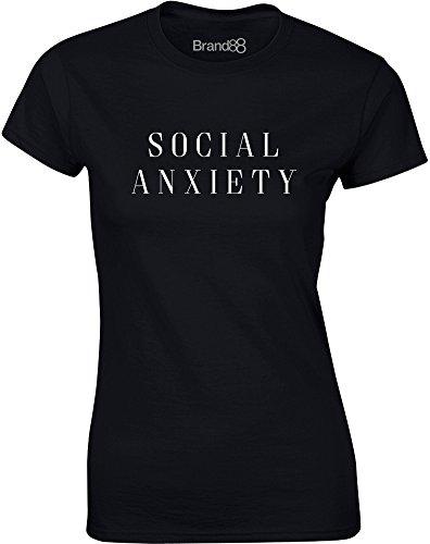 Brand88 - Social Anxiety, Mesdames T-shirt imprimé Noir/Blanc