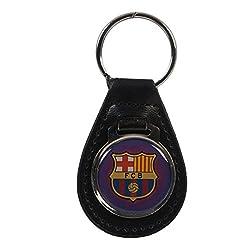 F.C. Barcelona Leather Keychain