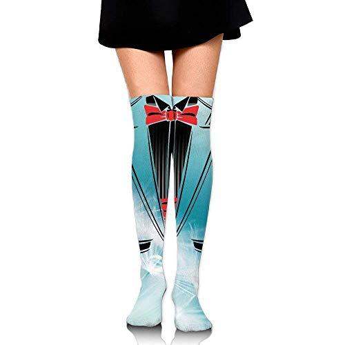 tianjianzulinyouxiangongsi Women's Knee High Sport Long Sock Classic Tuxedo for Soccer Sport Long Stockings 50CM (Classic Tuxedo)