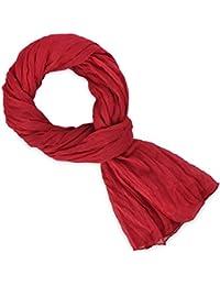 Chèche coton rouge baiser uni