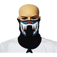 Maschera Per Volto Che Si Illumina Con La Voce Sport Travestimento Cosplay (Modello 1)