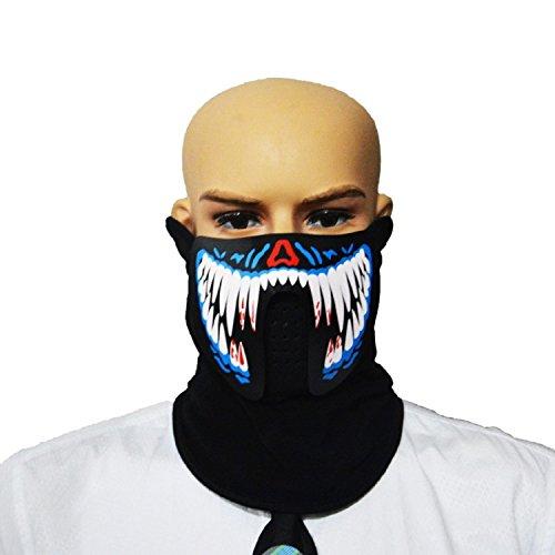 te Gesichtsmaske mit der Stimme Sport Verkleidung Cosplay (Modell 1) (Halloween Masken Ideen)