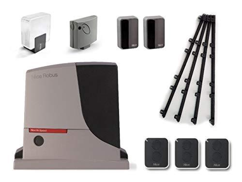 Nice-ROBUS-500-HS-RB500HS-motor-SMXI-receptor-3-X-ON2E-transmisores-EPMB-par-de-fotoclulas-ELDC-Luz-intermitente-para-el-accionamiento-rpido-de-puertas-correderas-de-hasta-8-m-o-500-kg-24-Vdc-4m-Crema