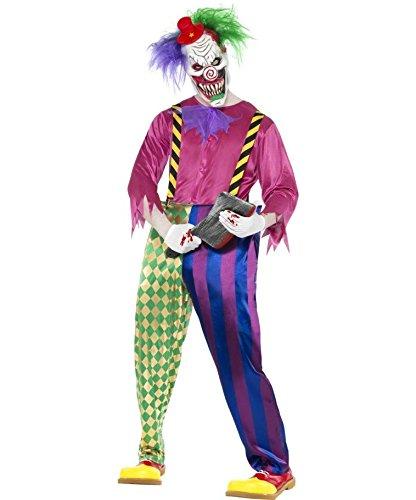 Imagen de traje de payaso asesino disfraz arlequín criminal muerte vestuario