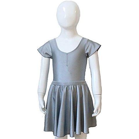 ZY Body/Gonne - Per donna/Per bambini - Balletto/Esibizione Nylon/Lycra -Nero/Verde Scuro/Fucsia/Verde smeraldo/Verde chiaro/Viola , peach-xxxl , peach-xxxl