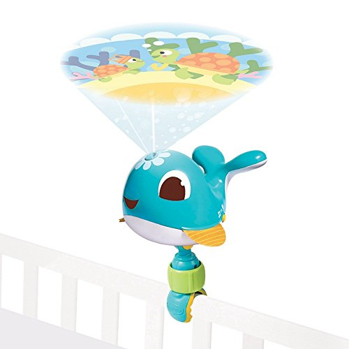 Tiny Love Take-Along Projector Mobile, süßes Nachtlicht für ihr Baby, Projektor scheint eine bunte Unterwasserwelt an die Decke mit beruhigender Musik, inkl. Universal Befestigung, Cody, blau