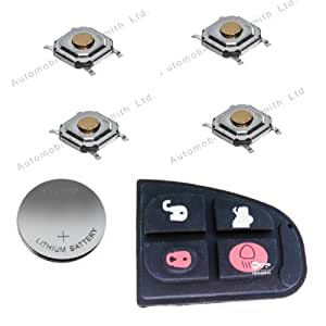 DIY Repair kit - for Jaguar 4 button remote key fob refurbishment