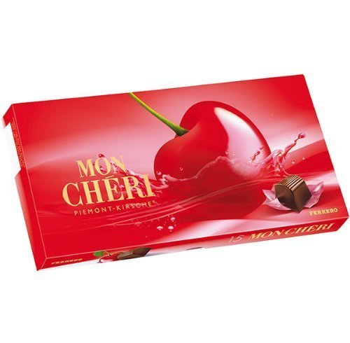 Ferrero Mon Chéri, Cherry Liqueur Chocolates (1 x 15 Piece Box)