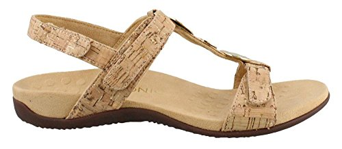 VIONIC Womens farra Gold Synthetic Cork Sandals OOArWRxHwq