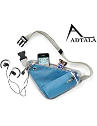 Adtala Polyester Sports Waist Bag With Thermo Water Bottle Holder, Multifunction Phone Pouch For Running/Jogging...