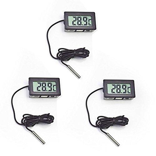 Thermometer, cooso Digital LCD Thermometer für Aquarium Gefrierschrank Frozen Kühlschrank Kühlschrank Gefrierschrank