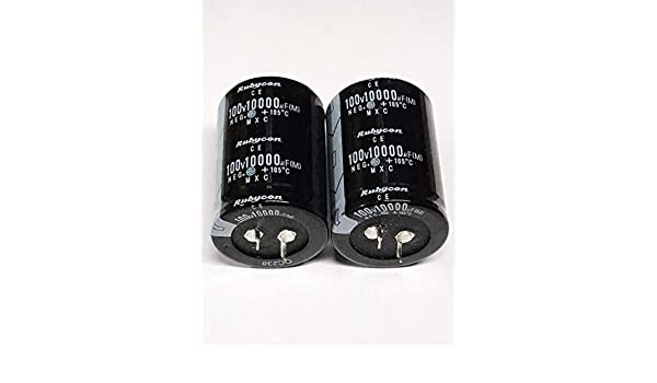 2PCS Rubycon 10000UF 100V Electrolytic  Capacitor 105℃ 35X70mm