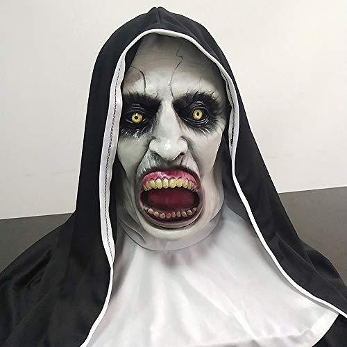 KYOKIM Nun Maske Kind Erwachsener Halloween Mottoparty Schwarze Helm Cosplay Karneva Herren Held Vollen Kopf Deluxe Replik Deluxe Womens Helm