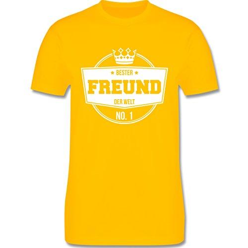 Shirtracer Typisch Männer - Bester Freund der Welt - Herren T-Shirt Rundhals Gelb