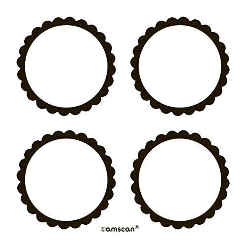Amscan Candy Buffet gewelltem Etiketten, schwarz