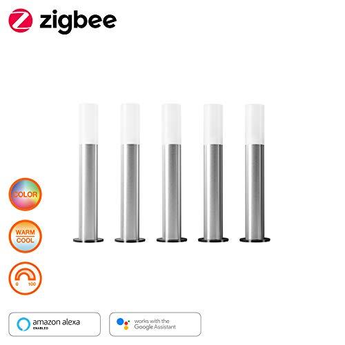 LEDVANCE Smart+ LED Gartenleuchte, ZigBee, warmweiß bis tageslicht, dimmbar, RGB Farbwechsel, 5 Spots, Direkt kompatibel mit Echo Plus und Echo Show (2. Gen.), Kompatibel mit Philips Hue Bridge