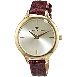 TOM TAILOR Watches Damen-Armbanduhr Analog Quarz Leder 5414803