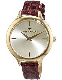 TOM Tailor de relojes mujer-reloj analógico de cuarzo cuero 5414803