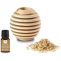 Pinus Cembra Aroma Duftbehälter Globe aus Zirbenholz mit Raumduftöl Zirbe Raumduft Lufterfrischer … preisvergleich bei billige-tabletten.eu