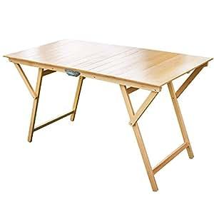 Tavolo laura pieghevole strisce in legno di faggio 70x140 for Tavoli amazon