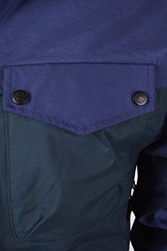 Timberland Giacca Uomo Reversibile Giacca da esterno Impermeabile Blu