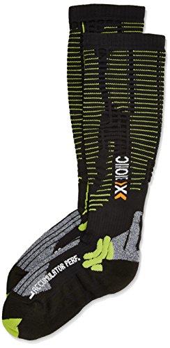 X-Socks Erwachsene Funktionssocken Accumulator Performance, Mehrfarbig (Black/Acid Green), 43/46 L,