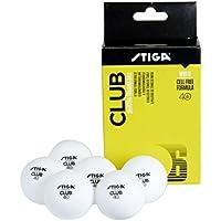 Stiga–tenis de mesa bolas Poly Club Pack de 6–blanco