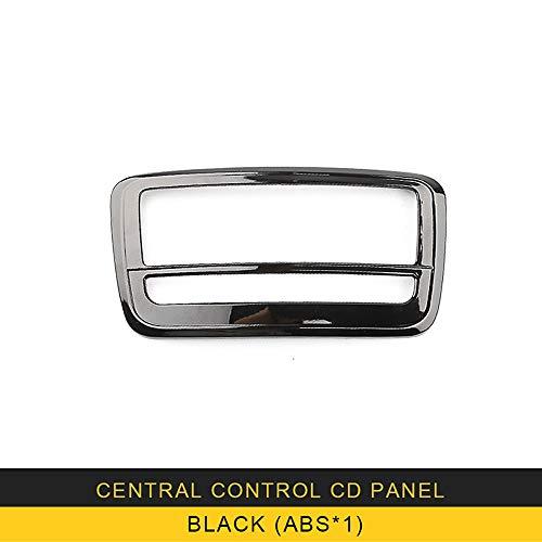 XDDXIAO per Mercedes Benz Classe A GLA CLA w176 Accessori per Autoadesivo della Copertura del Rivestimento del Telaio di Controllo Centrale CD in Fibra di Carbonio Auto,Blackx1
