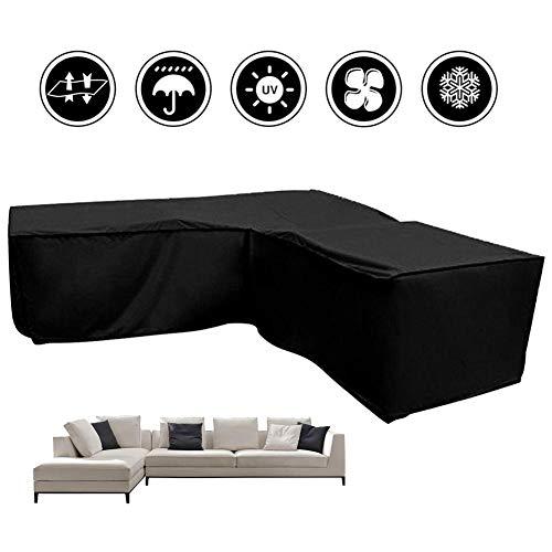 Copertura per divano angolare Protezione antipolvere duraturo resistente allacqua Protezione solare per esterno Protezione per esterni per divani