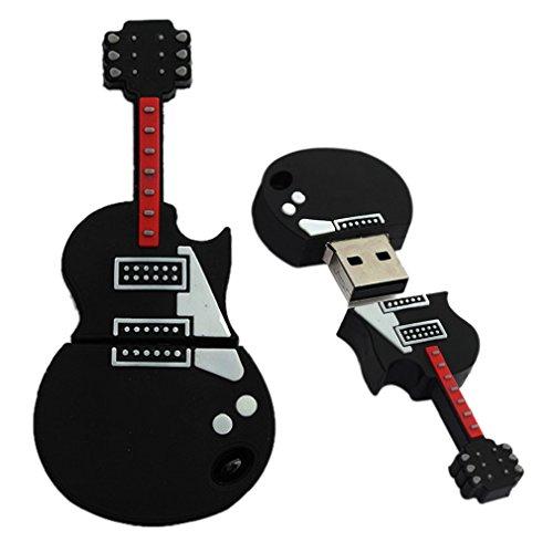 Tonsee Mode U Disk Pendrive Cartoon musikalische Gitarre musikalische Hinweis Stift Treiber 4GB8GB 16 GB 32GB Usb flash Laufwerk (32GB, schwarz)