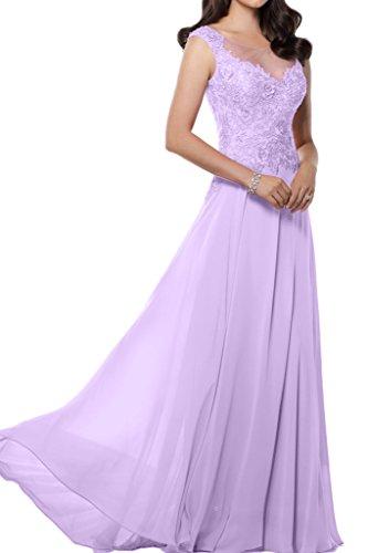 Victory Bridal Edel Chiffon Applikation Brautmutter Lang Abendkleider Ballkleider Prom Partykleider 2015 Lilac