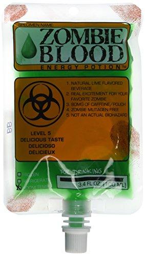 Harcos Lime Zombie Blood Energy Potion 3.4 Ounces Zombie Lab