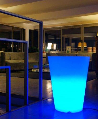 Lumisky 303132 Contemporain Vase Lumineux + Télécommande pour Changement de Couleur avec LED à Économie d'Énergie Polyéthylène Epais Multicolore Conique 40 x 40 x 50 cm