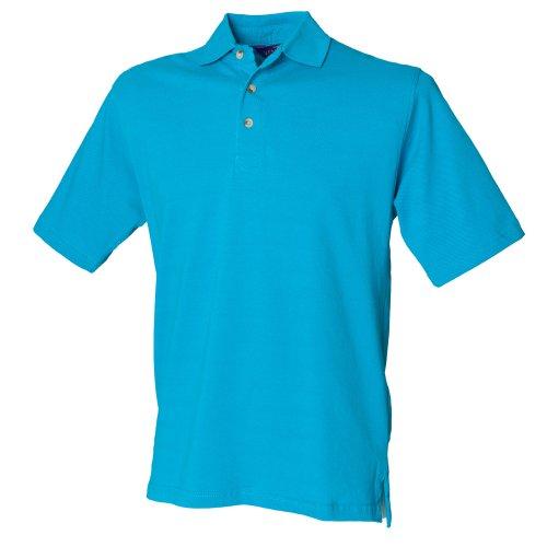 Henbury Herren Polo-Shirt, unifarben Türkis