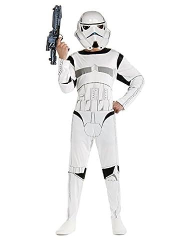 Größe M 7-8 Jahre - Star Wars Stormtrooper Kostüm Kinderfasching (Storm Shadow Kostüm)