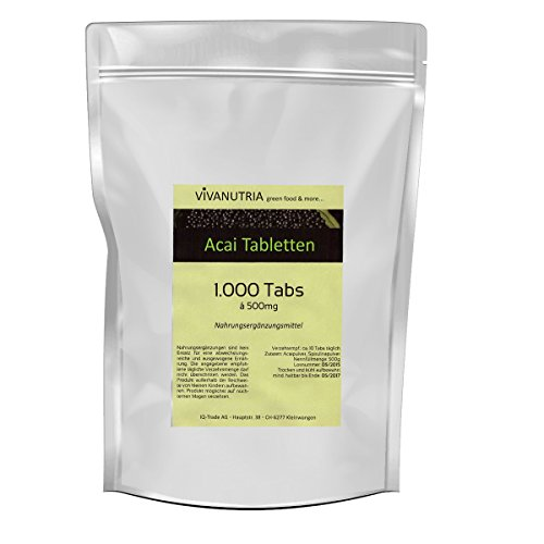 Geovitalis - 1000 compresse di bacche di acai di 500