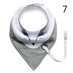 7 : Elistelle Infants Cotton Waterproof Bib Baby Triangle Bibs Saliva Towel 1 PCS7