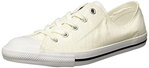 Converse Chucks 555891C Weiss Chuck Taylor All Star Dainty Perforated Stripe Canvas OX White Black White, Groesse:40 EU / 7 UK / 9