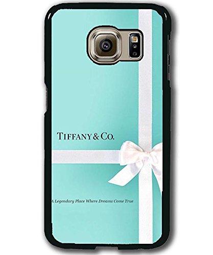 Preisvergleich Produktbild Tiffany & Co Brand Logo Original Cool Samsung Galaxy S6 Edge Plus Hülle Case Cover Plastik Matt Schutzhülle für jungs