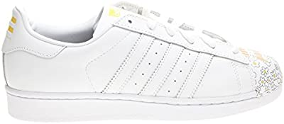 adidas Superstar Pharrell Supershell - Zapatillas para hombre, color blanco / amarillo, talla 44
