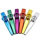 6pezzi di metallo Kazoo Melodic Kazoo strumento musicale, design set–un buon compagno per chitarra, ukulele, violino, tastiera di pianoforte Taglia libera Mix Color