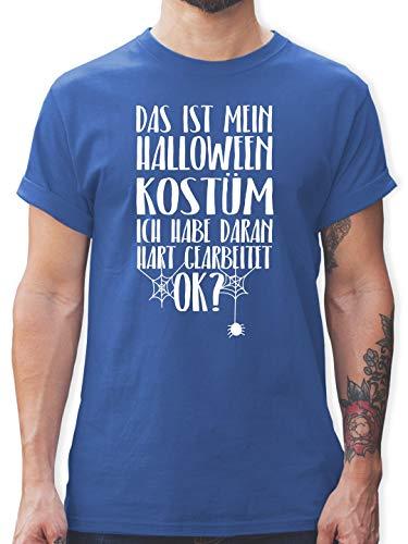 Männer Spider Kostüm - Halloween - Das ist Mein Halloween Kostüm - XL - Royalblau - L190 - Herren T-Shirt und Männer Tshirt
