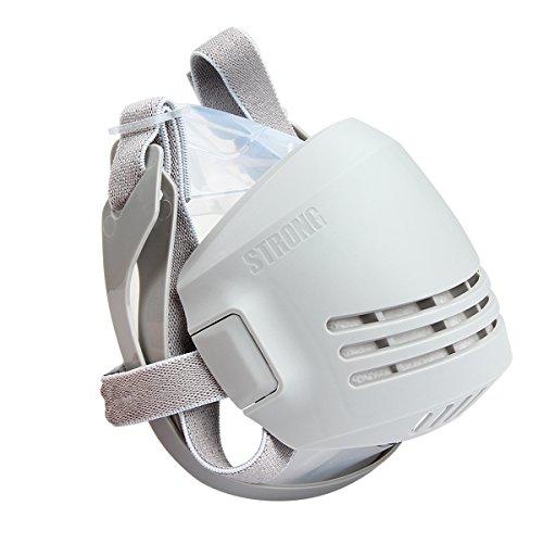 Latinaric Máscara respiratoria reutilizable con filtros de carbón activo,Antipolvo,respirador para protección contra polvo y químico,respiradores PM2.8,Respiradores industrial de gas