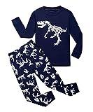 Garsumiss Jungen Schlafanzug Kinder Dinosaurier Pyjamas Sets Kleinkind Pjs Nachtwäsche 2-8 Jahre (116/5 Jahre, Blau)