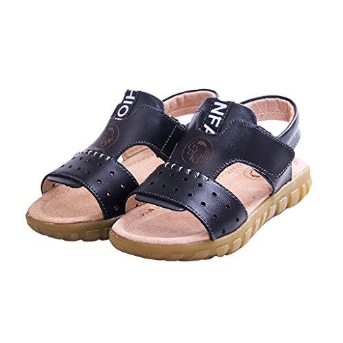 Gaatpot Jungen Mädchen Rutschfeste Weichem Leder Sandalen Outdoor Kinder Freizeit Offene Lauflernschuhe Schuhe Klettverschluss Trekkingsandalen Gr.21-37