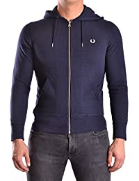 Fred Perry Homme MCBI128052O Bleu Coton Sweatshirt