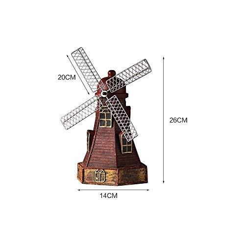 Aibada Resina Holland Windmill Hucha Ahorra Dinero Caja Monedas Banco Juguete cumpleaños Regalo para niños