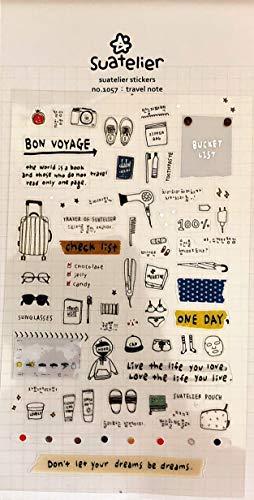 Suatelier No 1057 Reisezettel Bon Voyage Koffer Urlaub Eimer Liste Tagebuch Scrapbook Koreanisches Schreibwaren