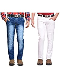 American Noti Multi Denim Faded Stretchable Skinny Fit Cotton Lycra Jeans Combo-Pack Of 2 - B06XPKSR4C